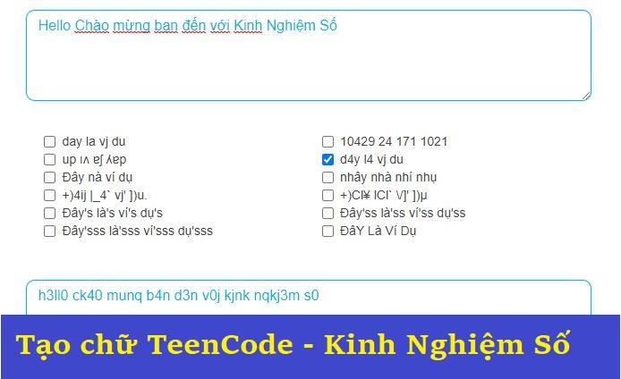 Cong cu viet chu TeenCode