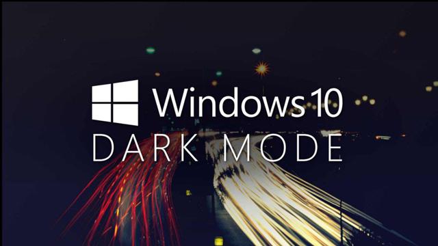 Dark Mode Win 10