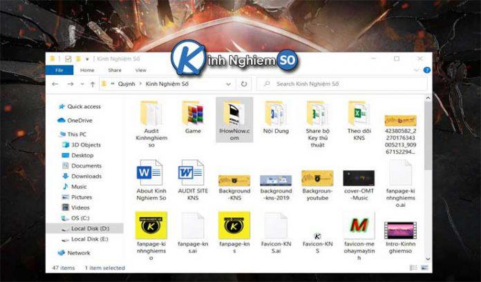 Phím tắt File Explorer