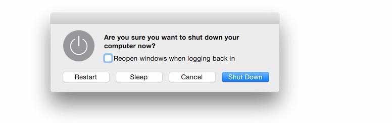 Tắt máy Macbook