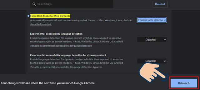 Bật chế độ Dark Mode trên Chrome