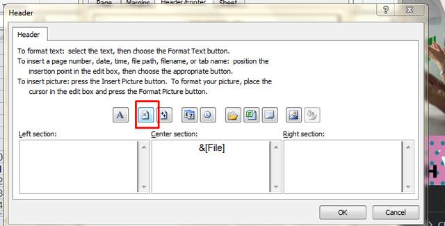 Đánh số trang cho Excel