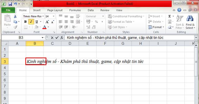 Cách xuống dòng trong Excel