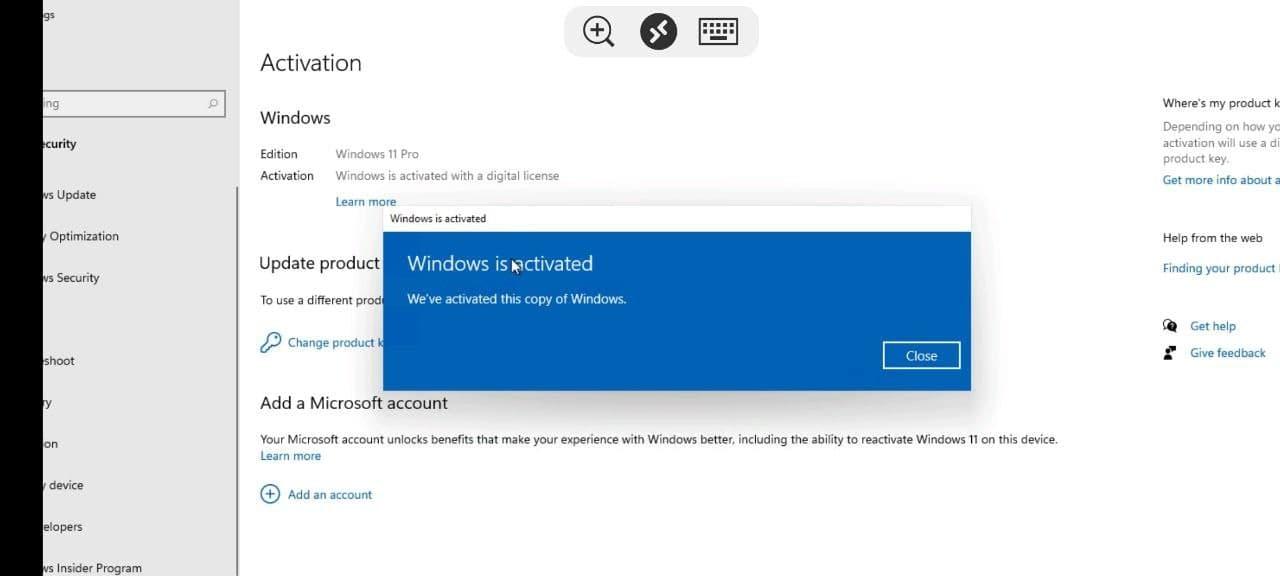 Hình ảnh tin đồn Windows 11 được active
