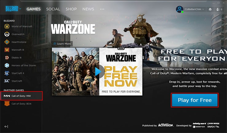 Download game Call of Duty: Warzone