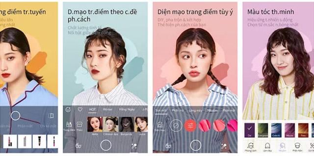 App Makeup Plus sửa ảnh Trung Quốc