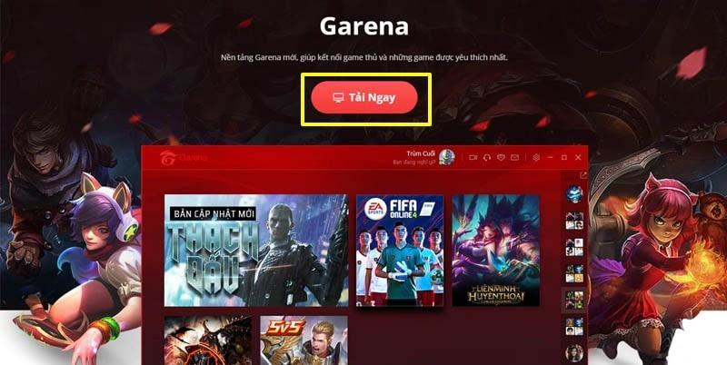 Tải Garena PC