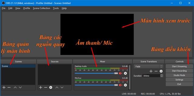 Cách quay màn hình máy tính bằng OBS Studio