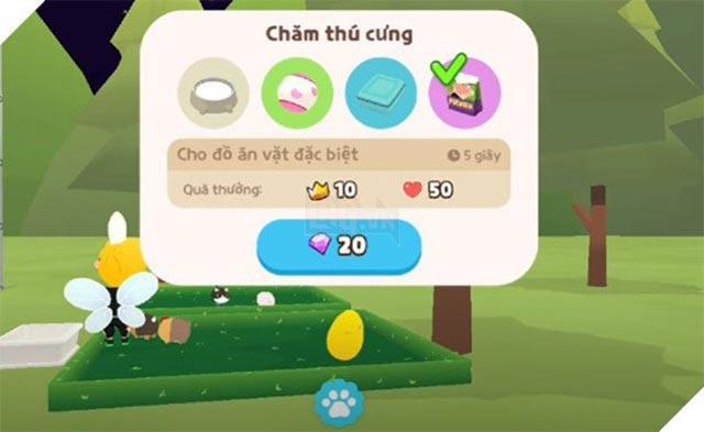 Hướng dẫn cách chăm thú cưng trong game Play Together