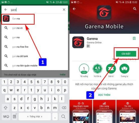 Cách cài đặt Garena Mobile Android
