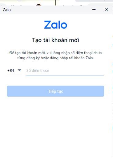 Cách đăng nhập Zalo khi chưa có tài khoản